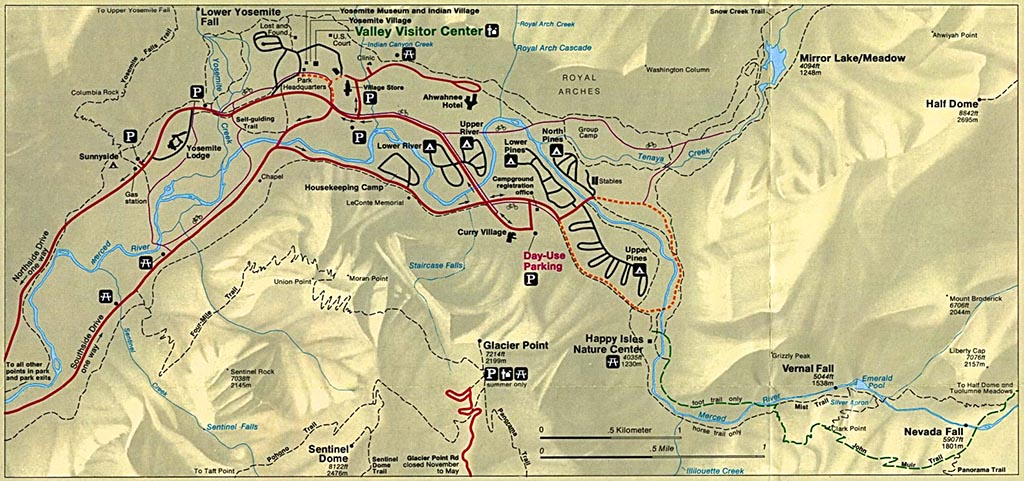 Mapa Parque Nacional Yosemite