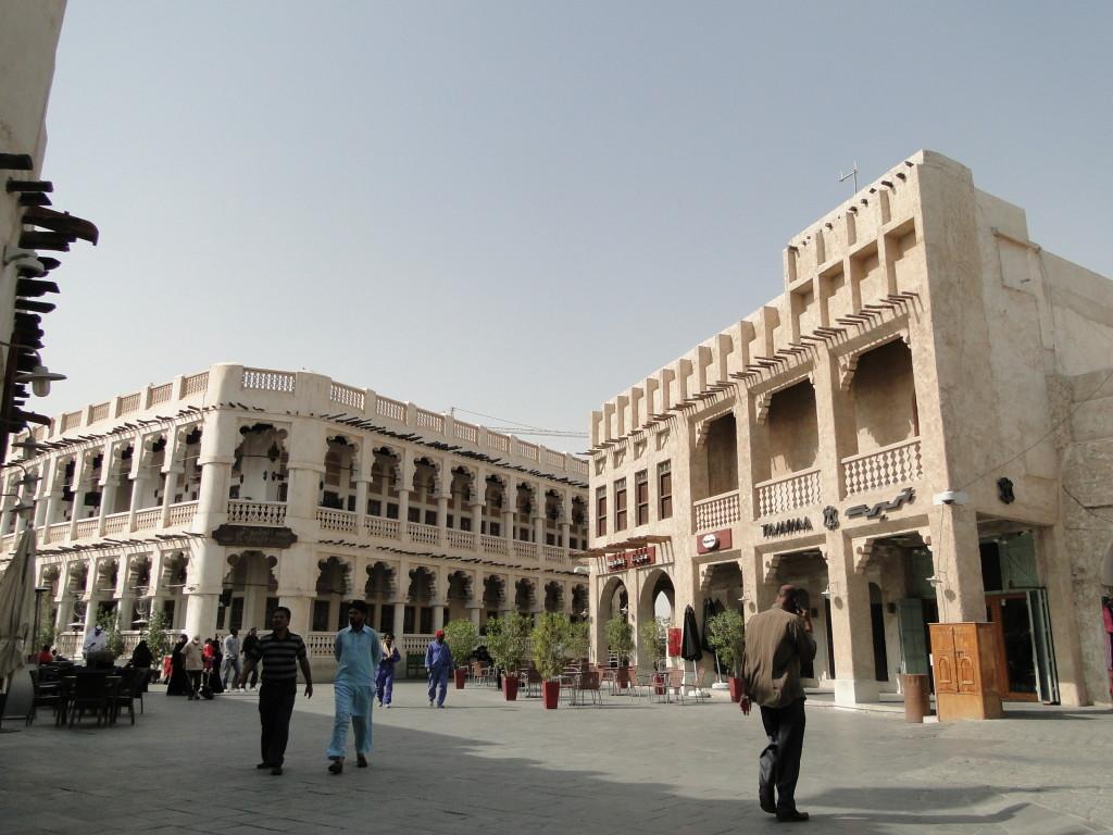 Paseando por la zona del bazar de Doha