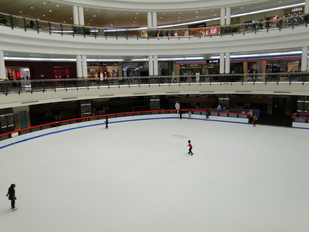 Pista de patinaje en el City Center Mall de Doha