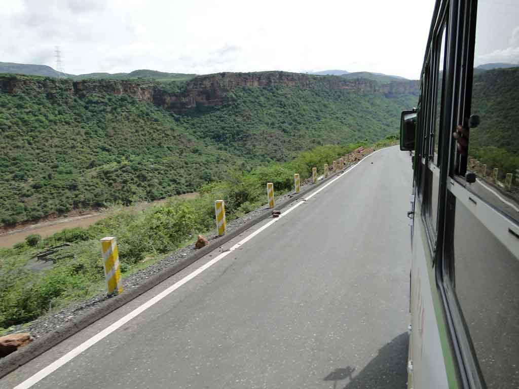 En el autobús dirección a Bahir-Dar desde Addis Abeba