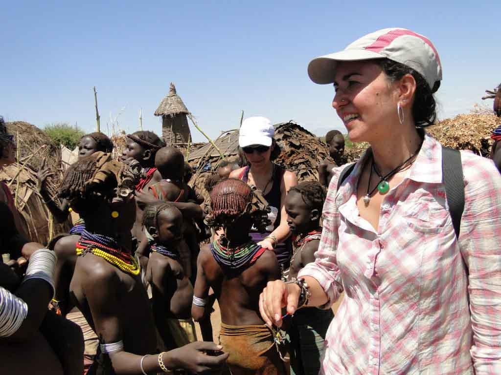 Visita al poblado de los Dashenech en Omarate