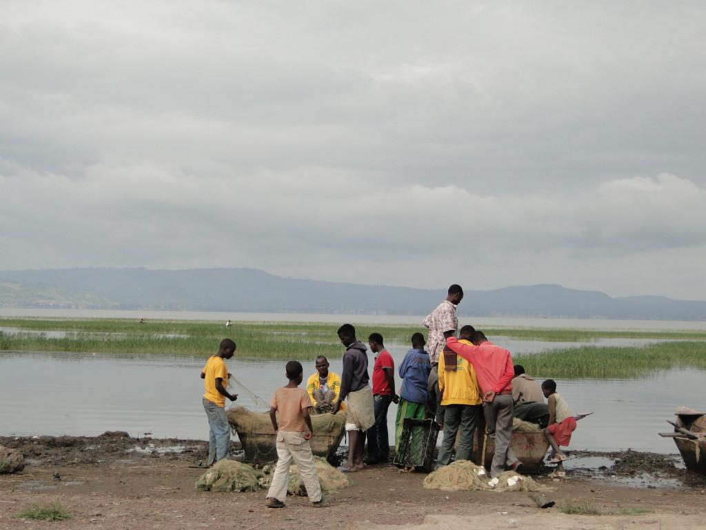 Puerto pesquero en Awassa