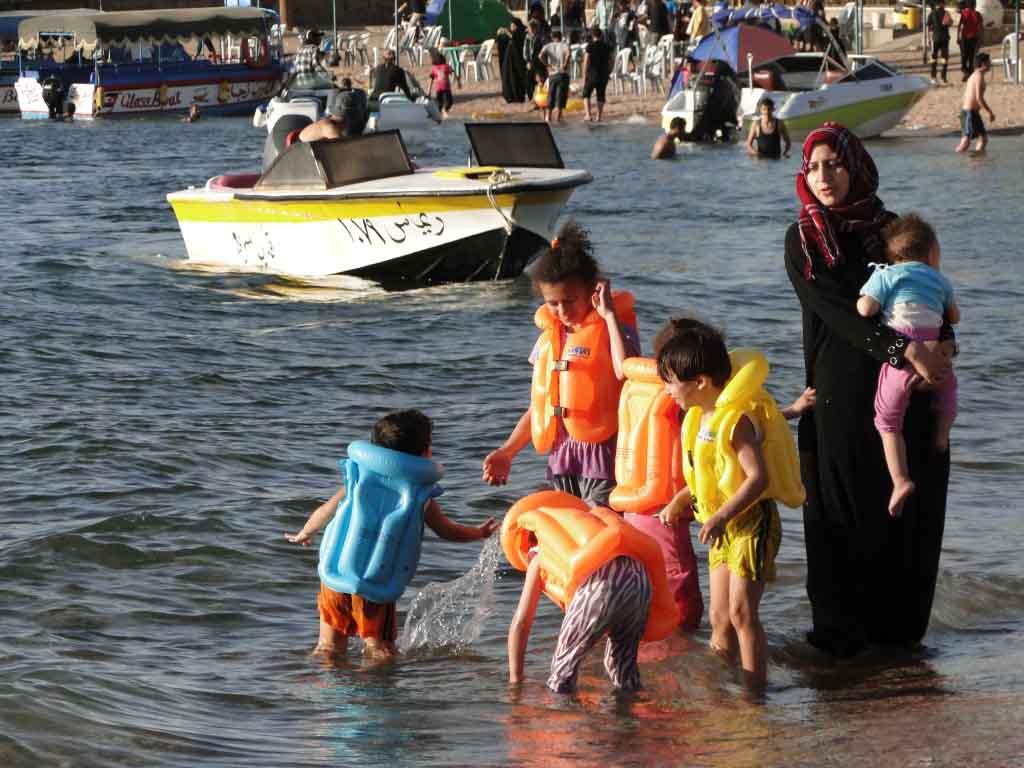 Aqaba, playa pública