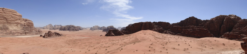 Panorámica de Wadi Rum