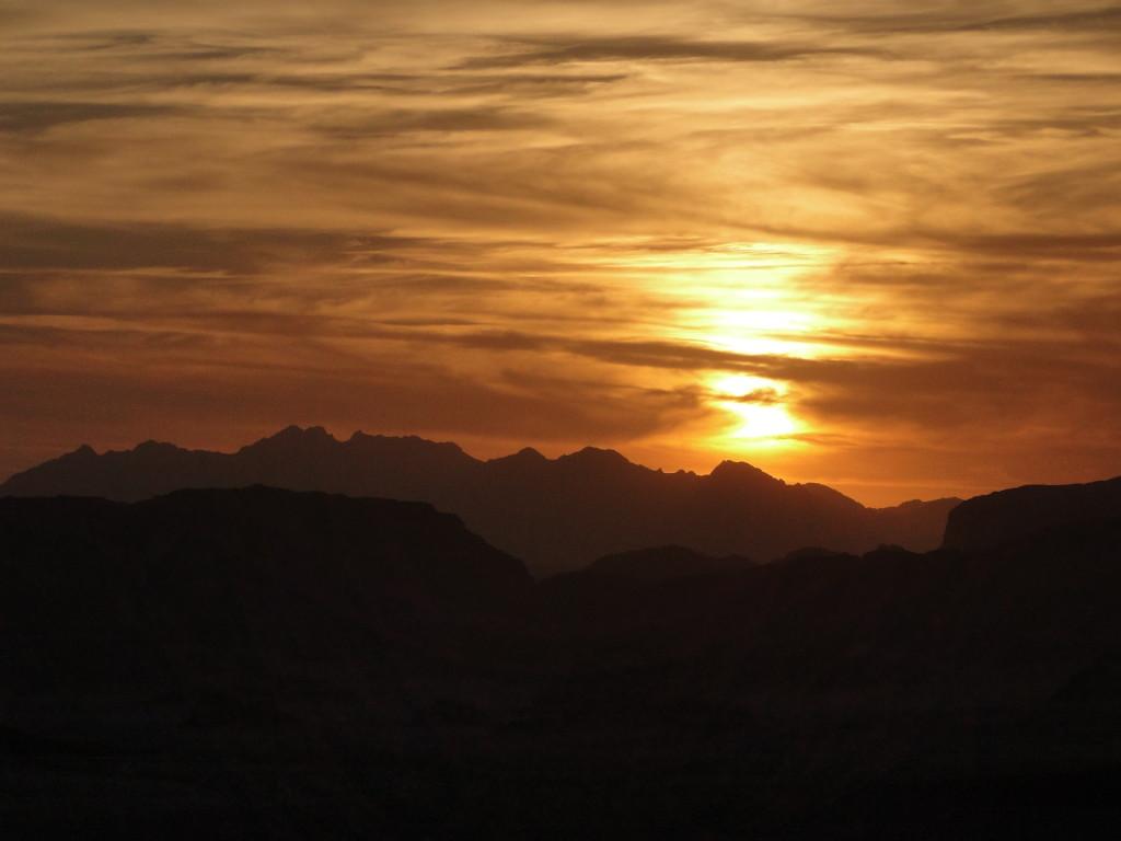 Puesta de sol en Wadi Rum