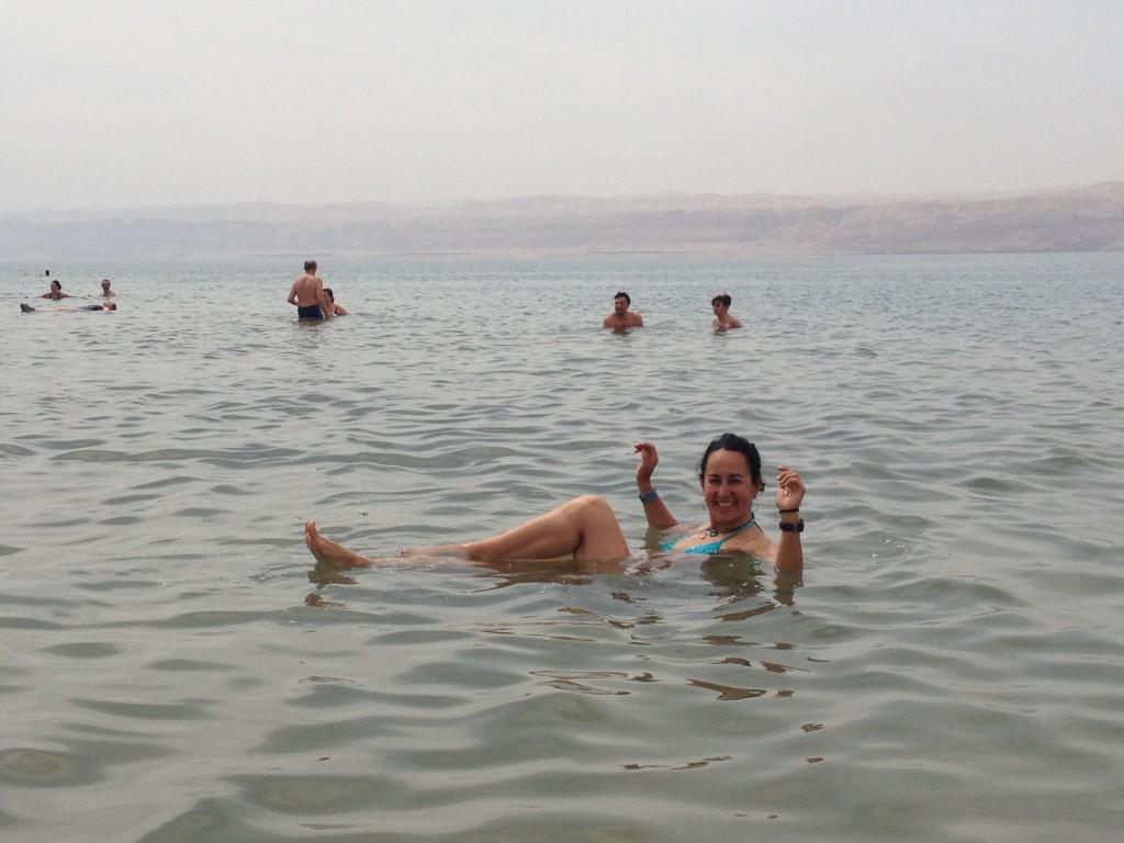 En el Mar Muerto