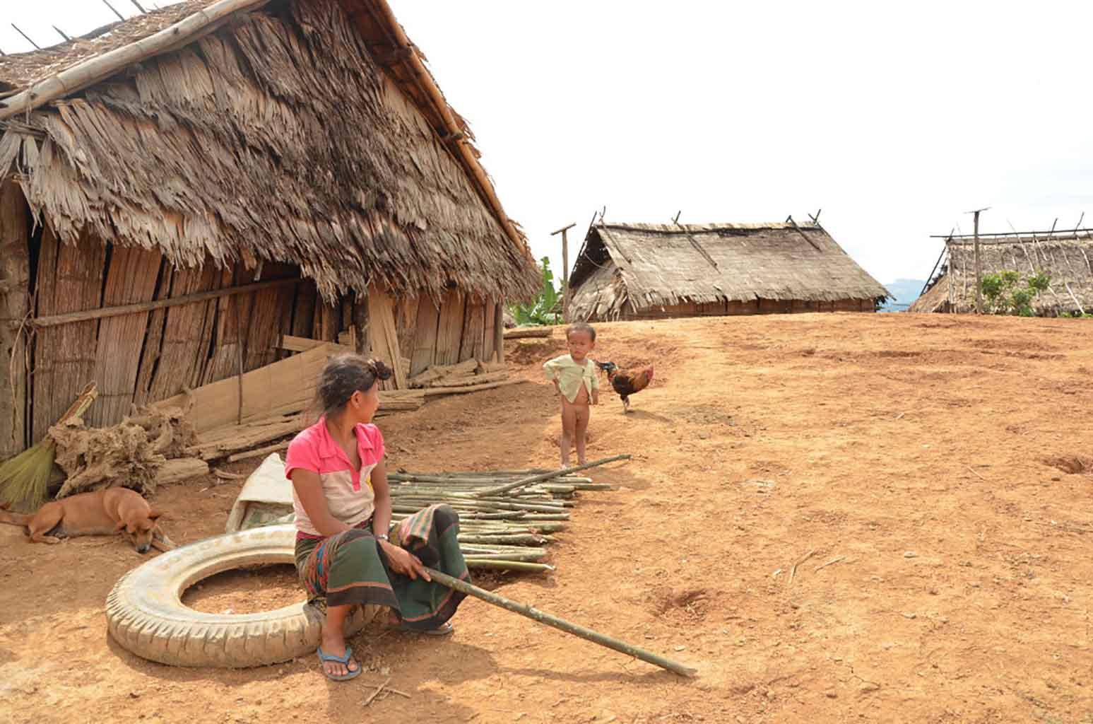 Poblado Ankha. Luang Namtha