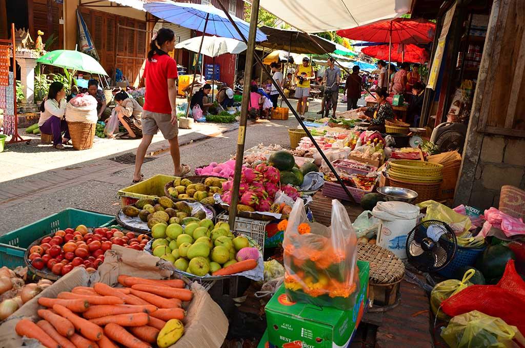 Mercado en Luang Prabang