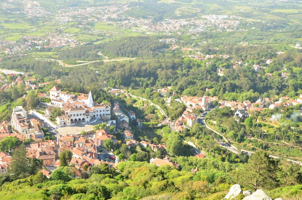 Vistas de la villa de Sintra