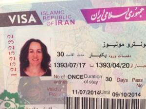 Visado para Irán