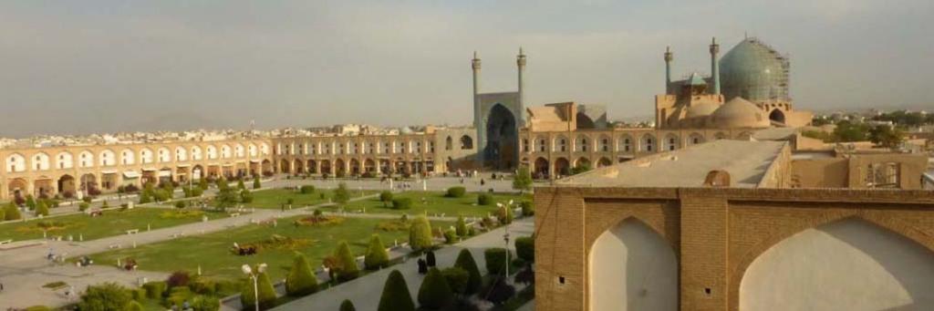 Viajar a Irán: Vistas de la plaza de Naghsh-e Jahan