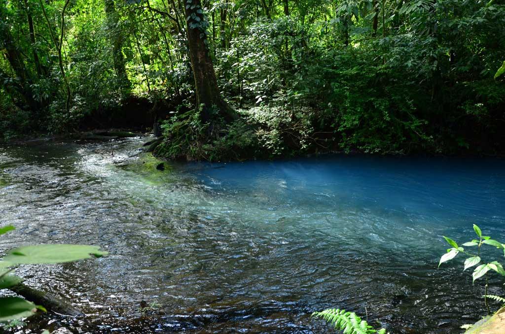 Confluencia de los dos ríos.