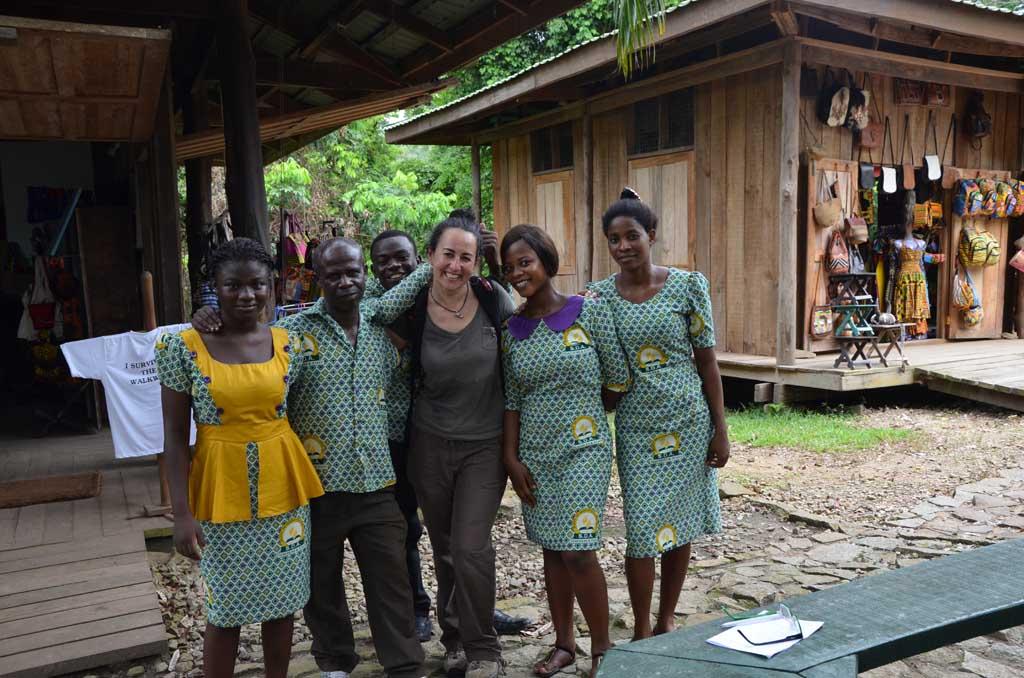Como se puede ver, los ghaneses son muy cariñosos y amables!
