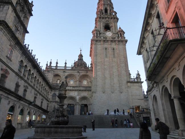 Catedral de Santiago de Compostela y la Torre del Reloj