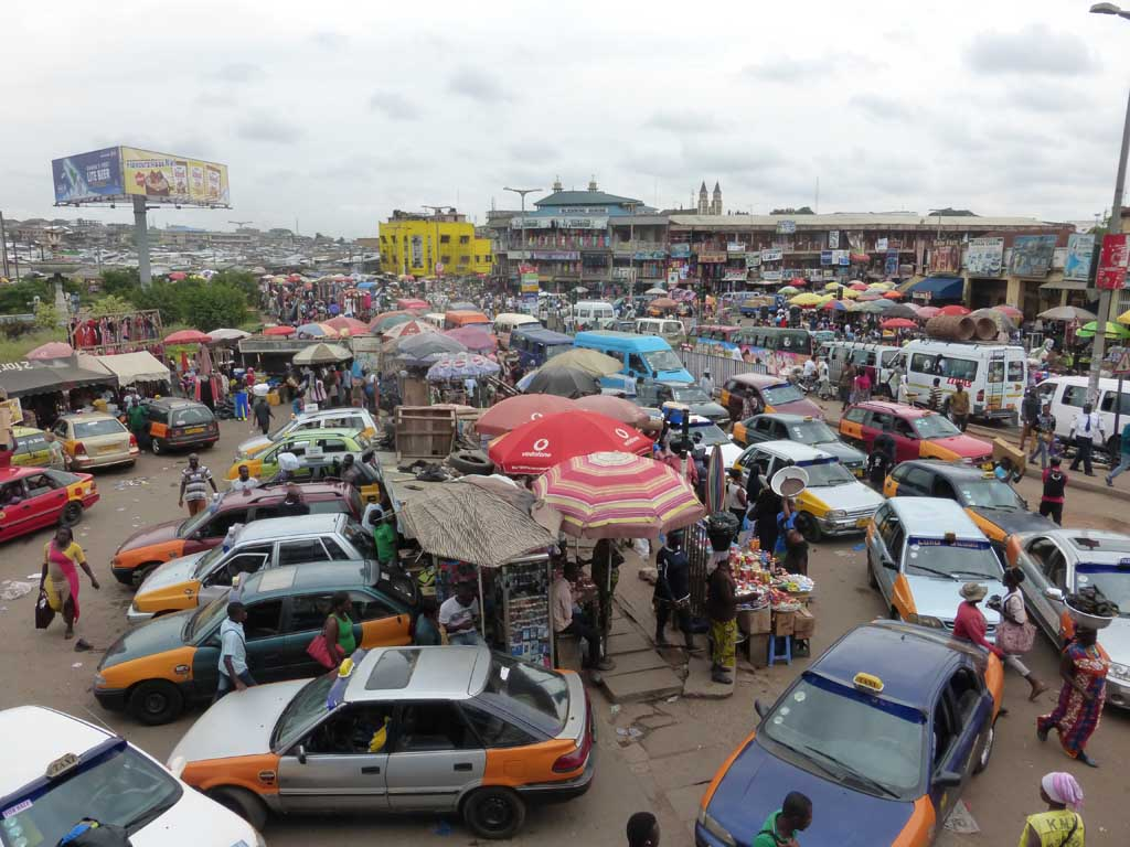 Mercado en Kumasi