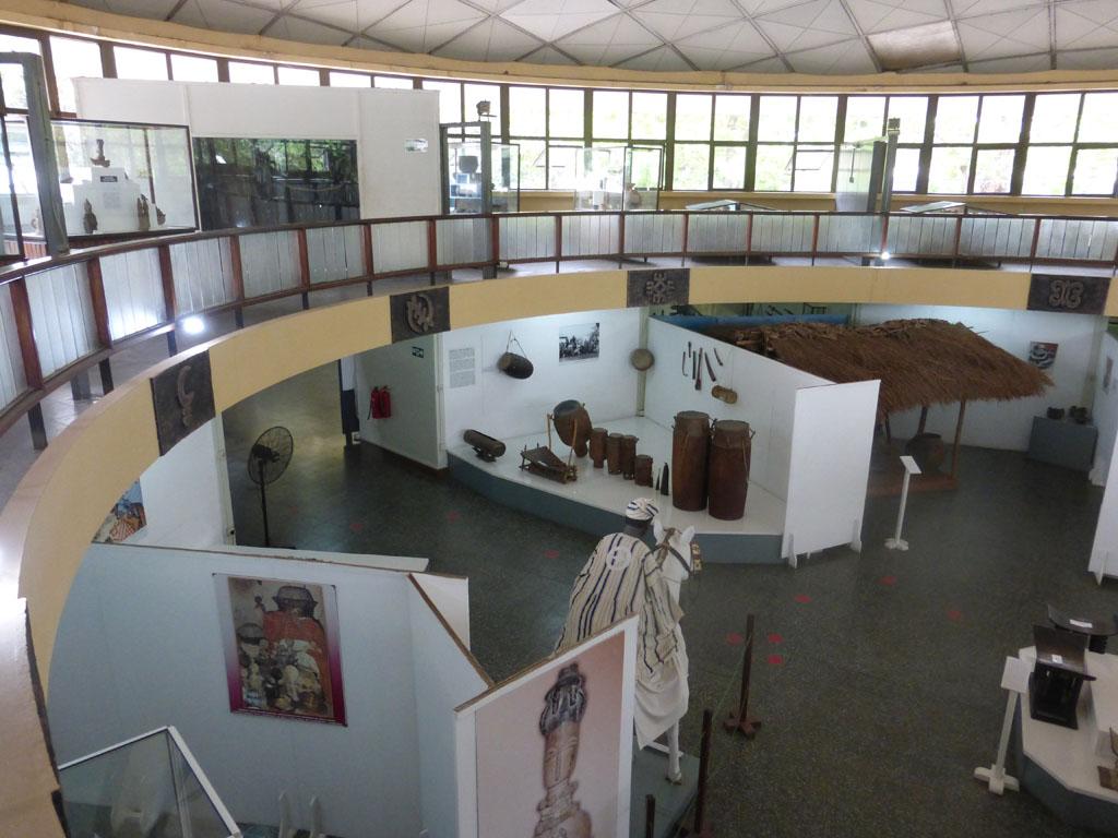 Interior del Museo Nacional en Accra