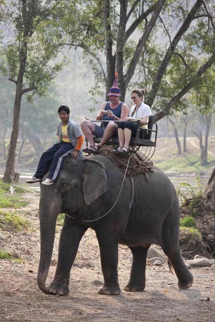 Paseos en elefante. Foto cedida por FAADA