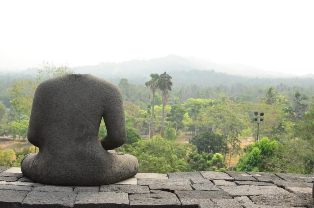 Vistas desde el templo de Borobudur