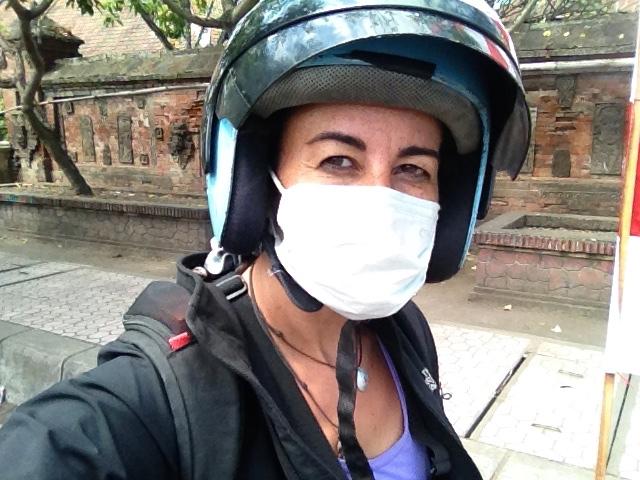 Preparada para el tour en moto!