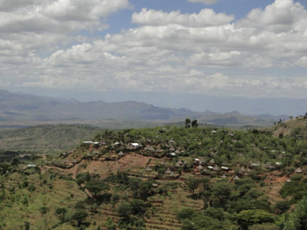 Vistas del pueblo de los Konso
