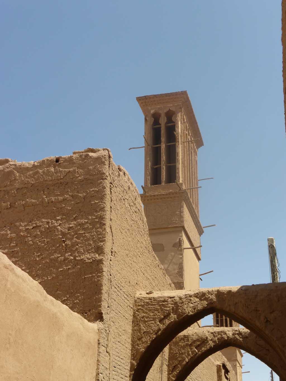 Torre de ventilación o Badgir en Yazd.