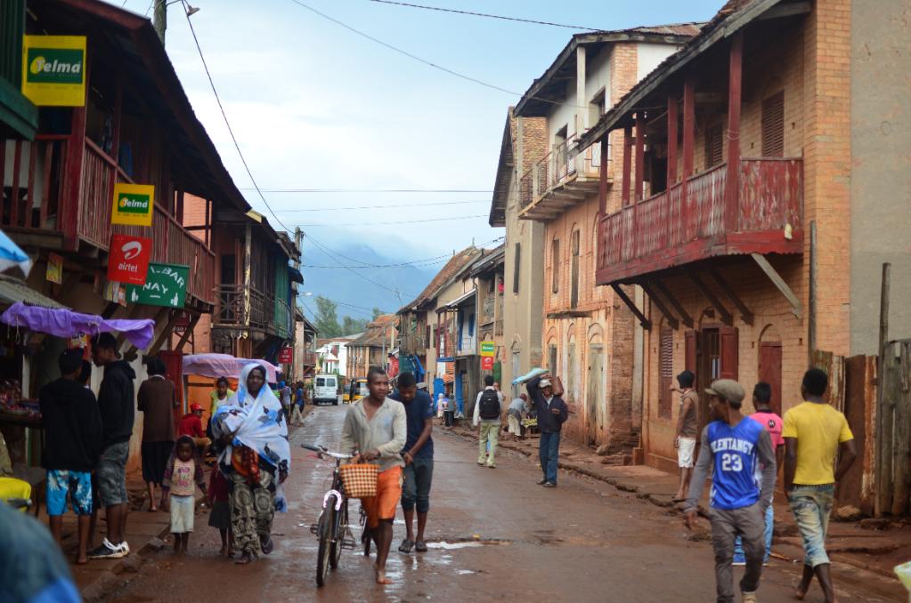 Calles de Ambalavao, en el centro de Madagascar