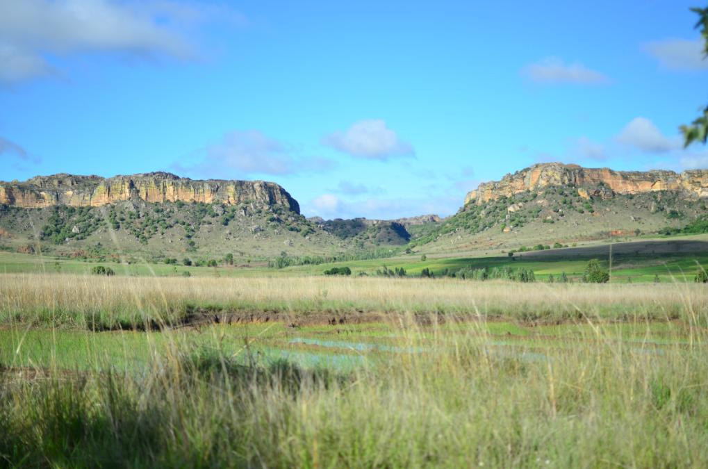 Vista de la entrada del Parque Nacional de Isalo