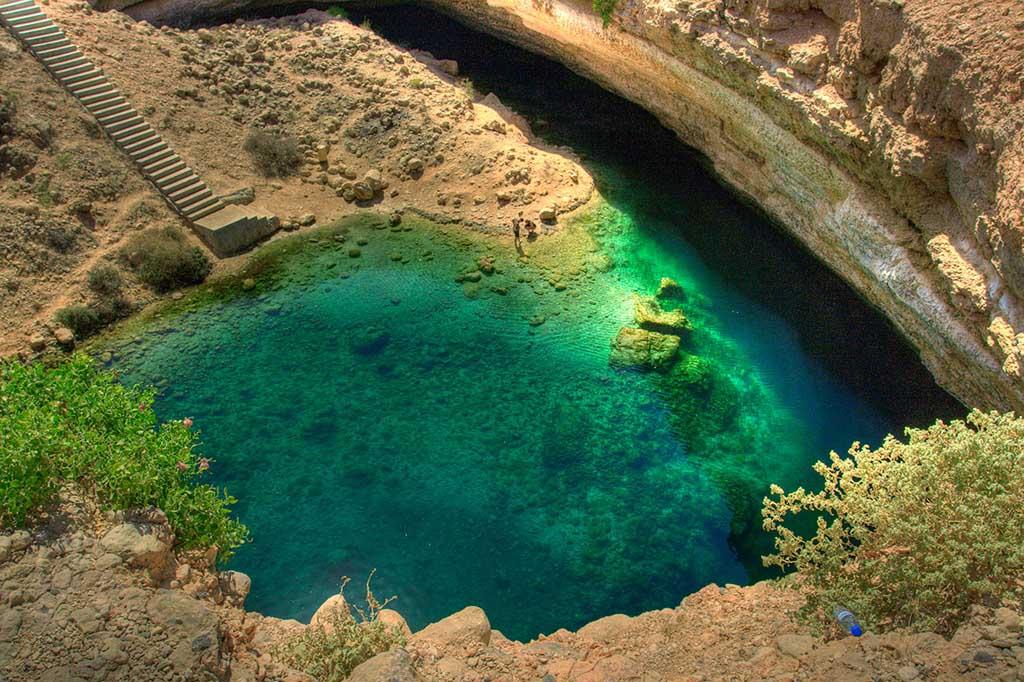 Bimmah Sink hole, Oman, viaje