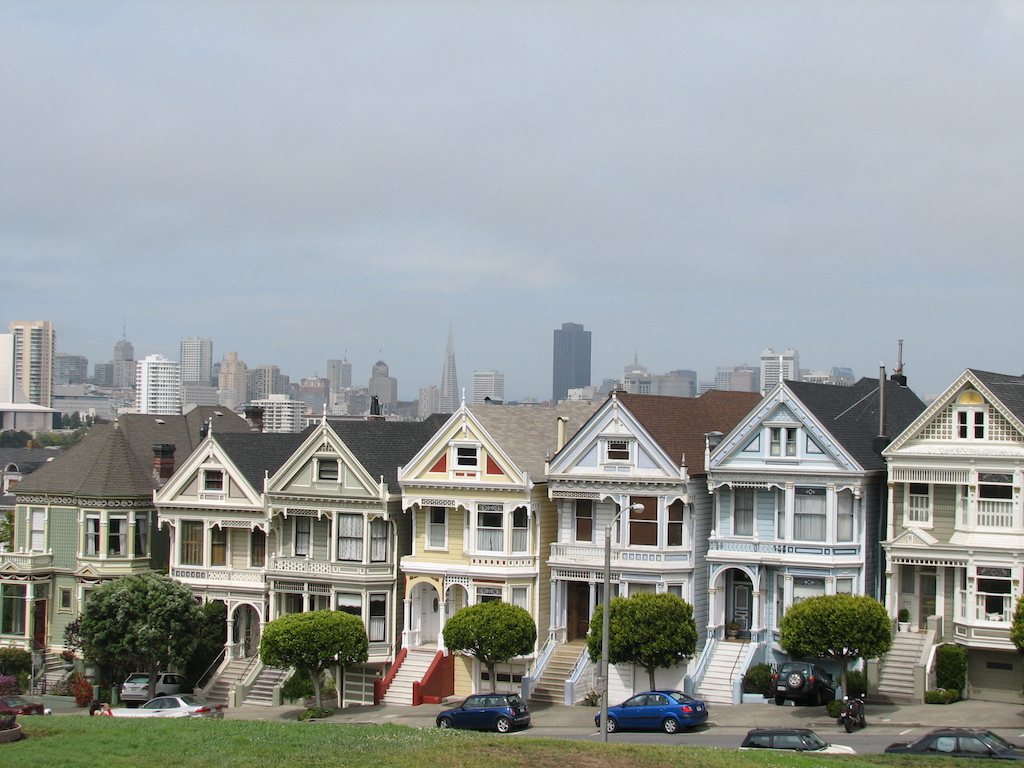 Formulario ESTA, visado USA, Painted Ladies en San Francisco.