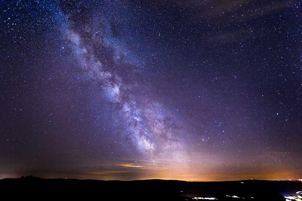 Vía Láctea, otoño en la montaña