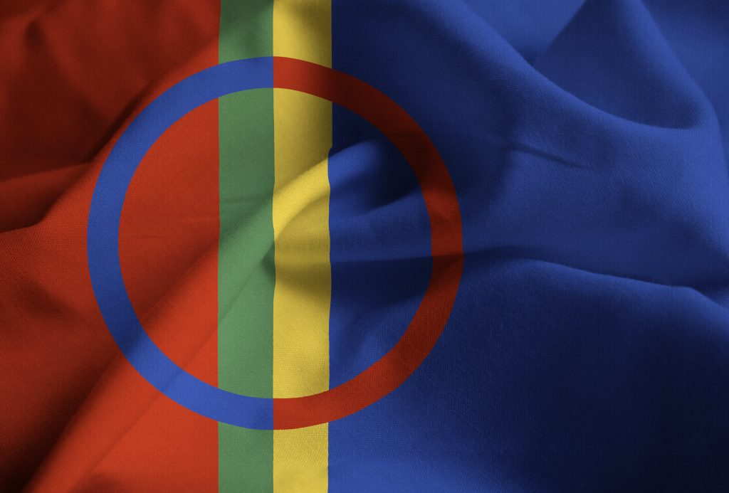 Bandera sami Noruega