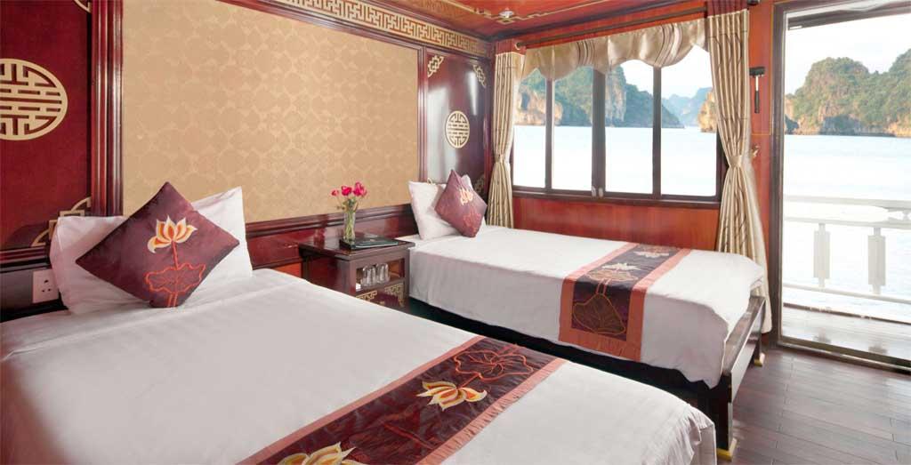 Camarote en el crucero por la Bahía de Halong