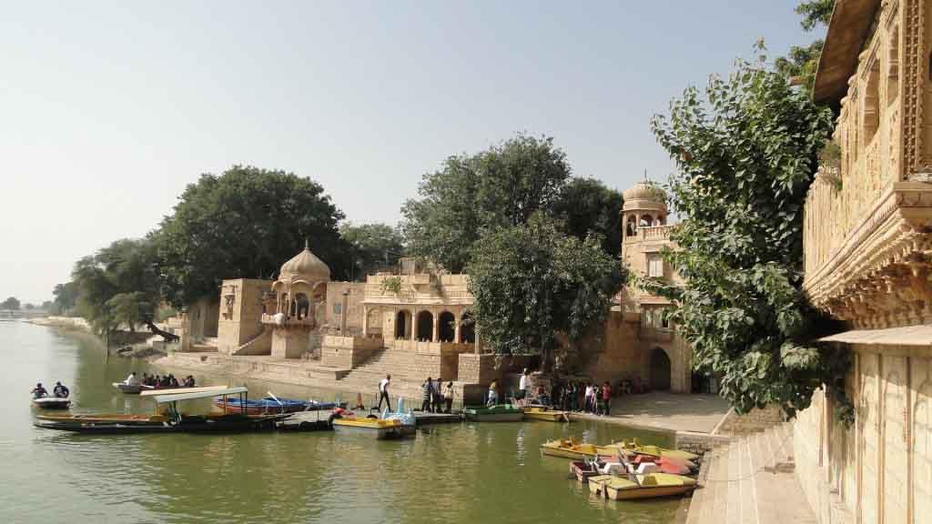 Represa de Garsisar, Jaisalmer, IndiaRepresa de Garsisar, Jaisalmer, India
