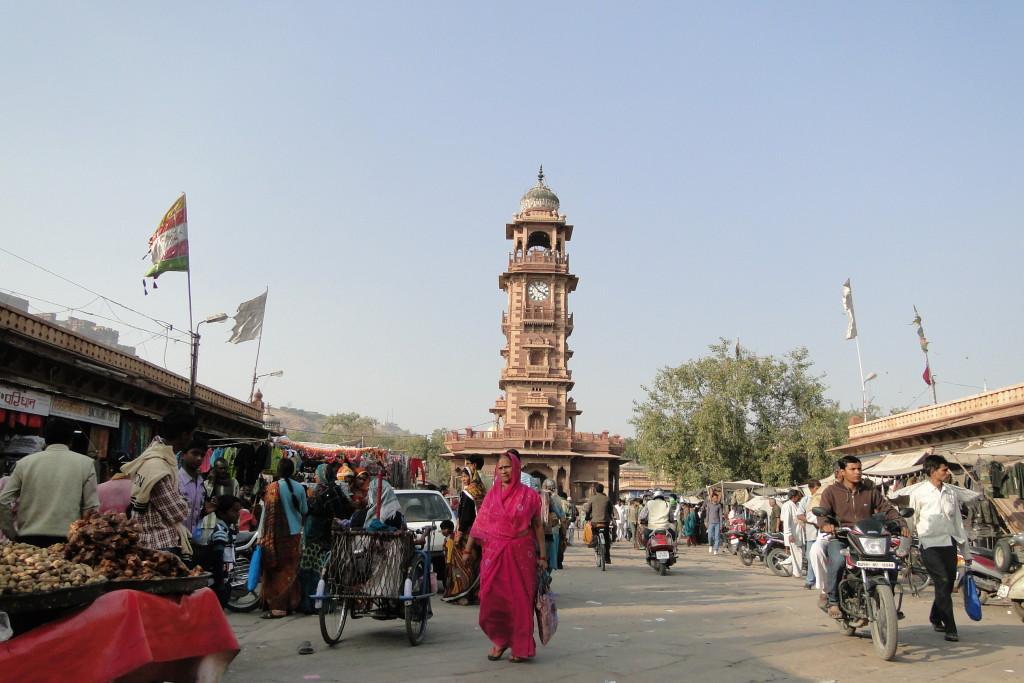 Torre del reloj, Jodhpur, India