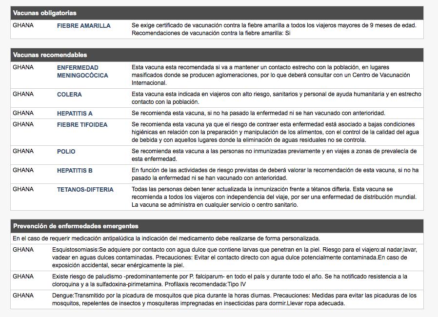 Listado de vacunas obligatorias y recomendadas del Ministerio de Sanidad, Servicios Sociales e Igualdad de España