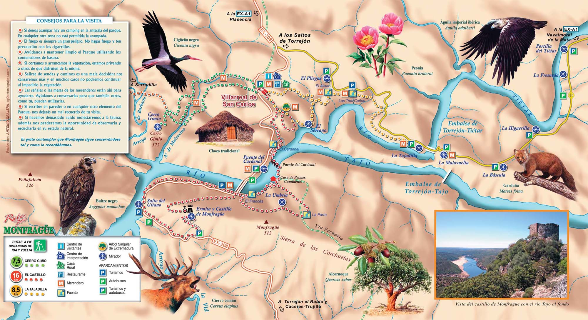 Monfrague mapa