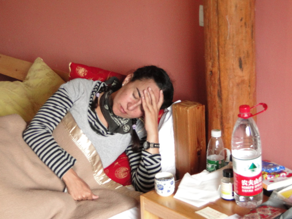 Así pasaron algunas horas en Shuhe, con fiebre y mucha tos