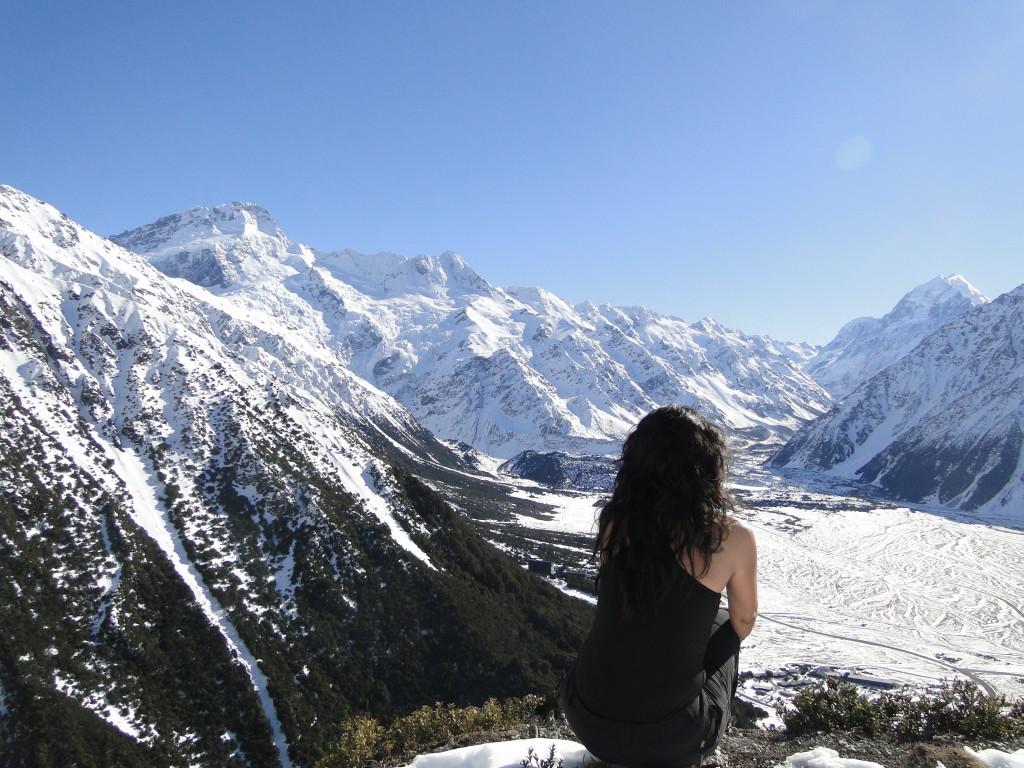 En Nueva Zelanda, en uno de esos momentos en los que vives la naturaleza a tope y te sientes muy pequeñita.
