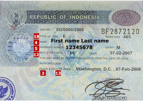 Indonesia-visa