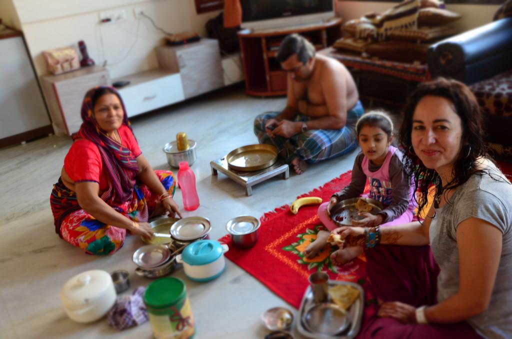 En mi segundo viaje a la India en casa de una acogedora familia jainista donde pasé varios días.