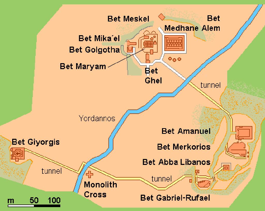 Mapa Lalibela